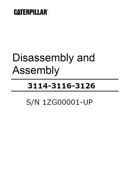 3114 3116 3126 disassembly and assembly manual cover