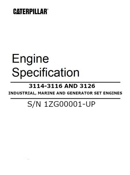Cat Specifications Manual Cover on 3126 cat engine repair manual