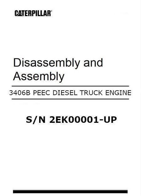 cat 3406 peec engine disassembly and assembly manual image