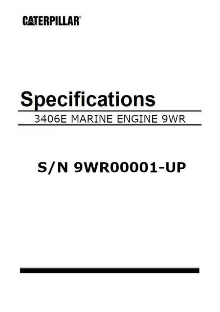 cat 3406E engine specification manual image