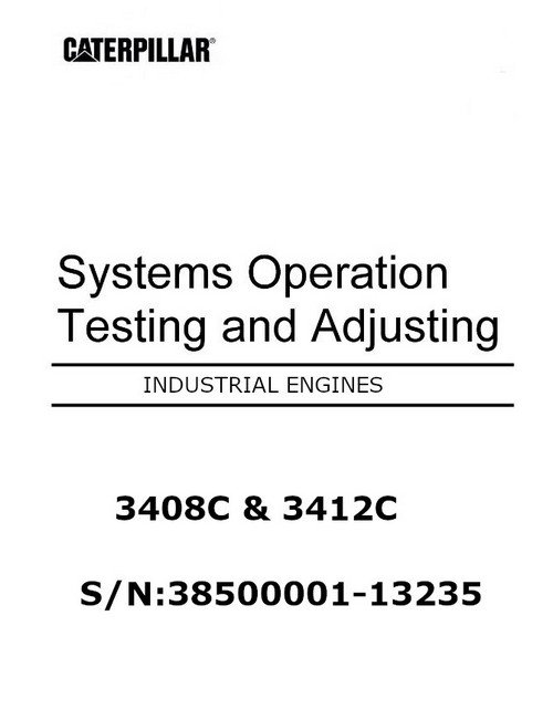 CAT 3408 and 3412 systems operation, testing and adjusting manual p1