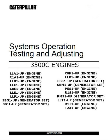 cat 3508 systems operation and testing manual image