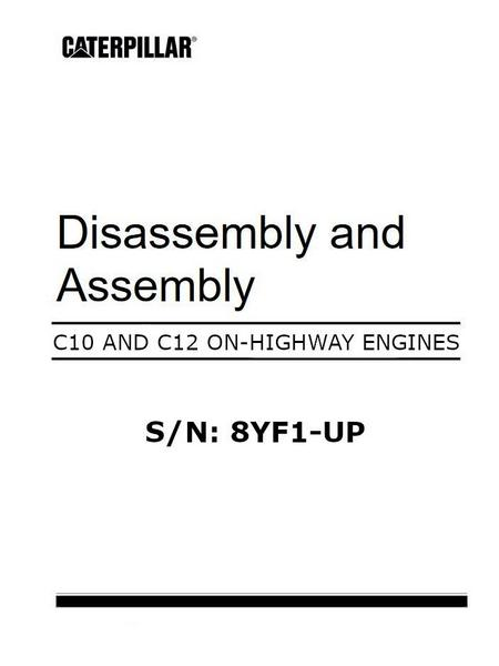 Disassembly and assembly manual for on-highway engines, image p1 of 338 pages