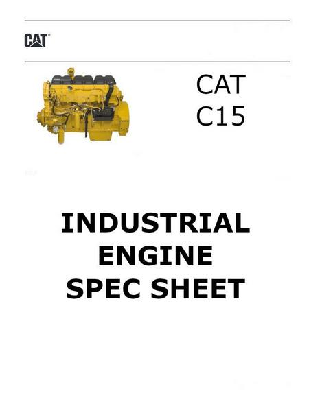 CAT c15 acert spec sheet image