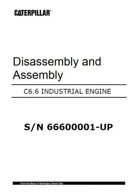 Caterpillar C6.6 disassembly and assembly manual p1