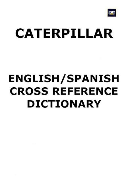 Caterpillar - English-Spanish, technical dictionary p1