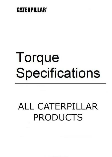 Caterpillar - General Torque Specifications p1