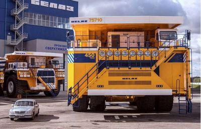 The Biggest Truck in the World - The Belaz 450 ton dumper
