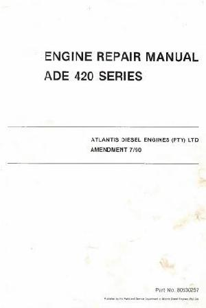 ADE OM422, OM423 & OM424 workshop manual p1