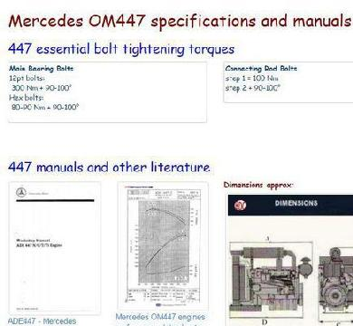 ADE 447 engine manuals, specs, bolt torques