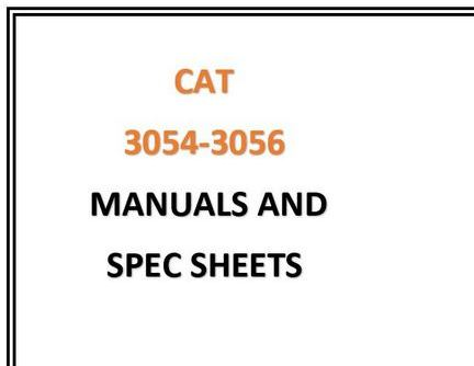 caterpillar 3054-3056 manuals specs snip