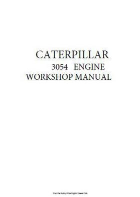 p1 of CAT 3054 Workshop Repair Manual