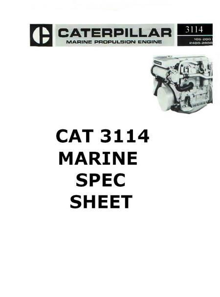 cat engine manuals and spec sheets 3114 spec sheet image