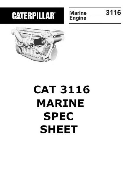 cat engine manuals and spec sheets 3116 spec sheet image