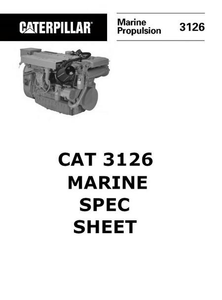 cat 3114 3116 3126 engine manuals and spec sheets 3126 spec sheet image