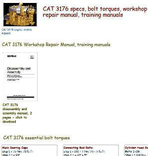 caterpillar 3176 essential specs snip