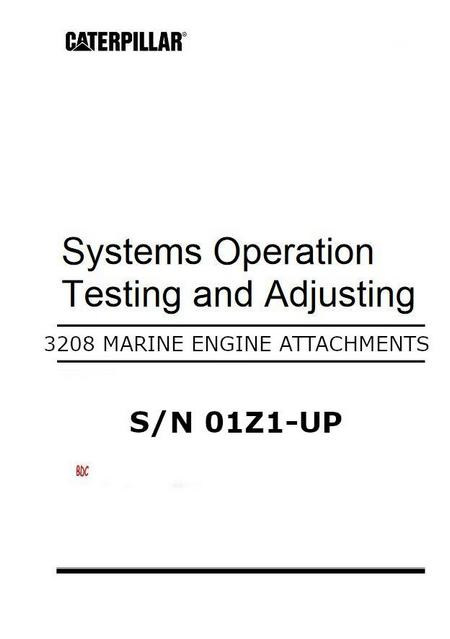 Marine 3208 Operation, Testing and Adjusting of Marine attachments