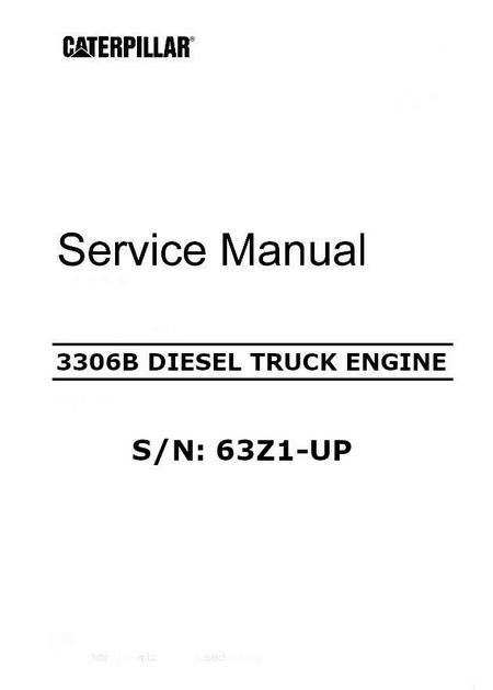 image CAT 3306B service manual p1 of 474 pages