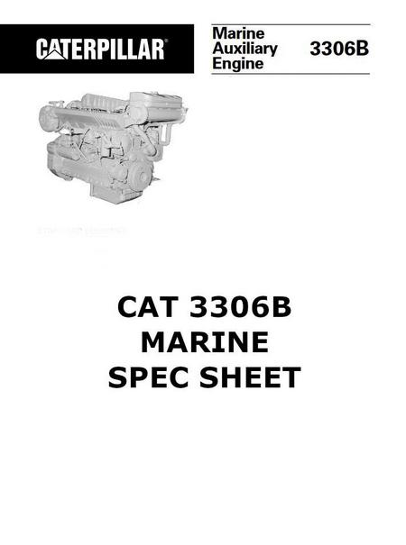 cat 3304 and 3306 workshop manual spec sheet image cat 3306 spec sheet page1