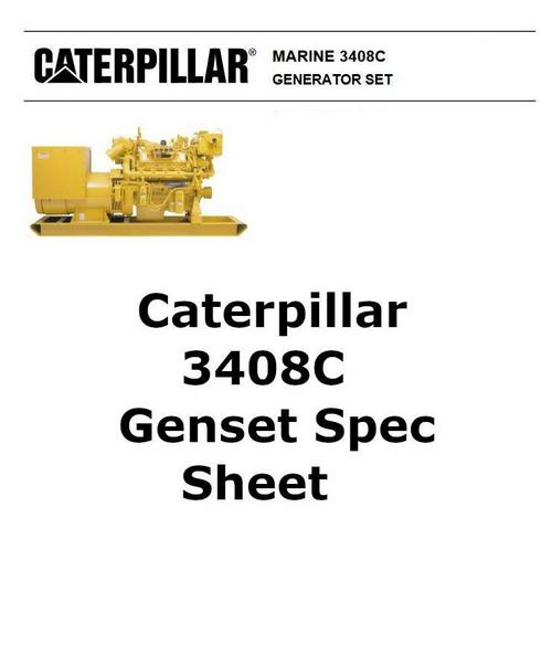 CAT 3408 genset spec sheet image