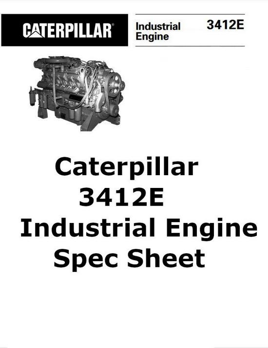 CAT 3412E industrial engine spec sheet image