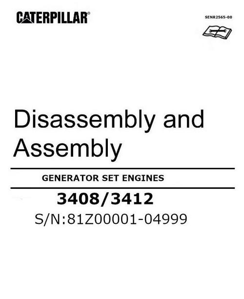 CAT 3408 3412 disassembly assembly manual p1 image