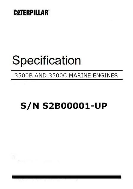 cat 3500B, 3500C specifications manual p1 of 240 pages