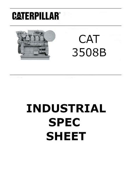 cat 3508 industrial spec sheet p1