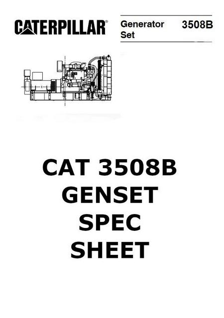 cat 3508 genset spec sheet p1