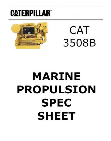 cat 3508 marine spec sheet p1