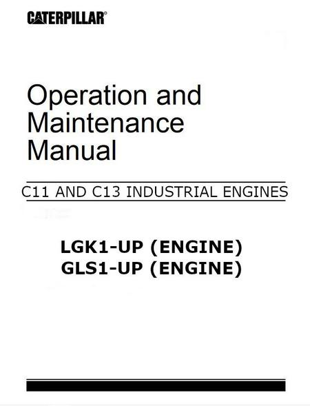 Cat C11 and C13, Operation and Maintenance p1