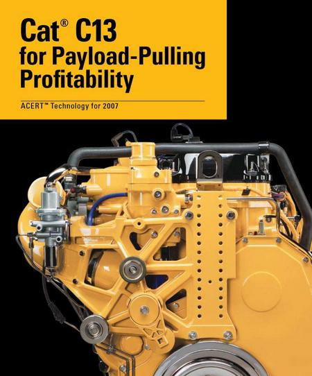 CAT c13 acert spec sheet for truck and bus profitability p1 of 14 pages