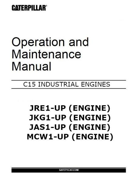 CAT C15 Operation and maintenance manual p1