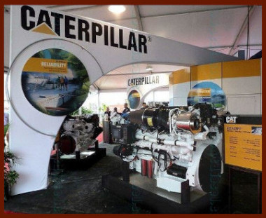 CAT C32 on display at Fort Lauderdale