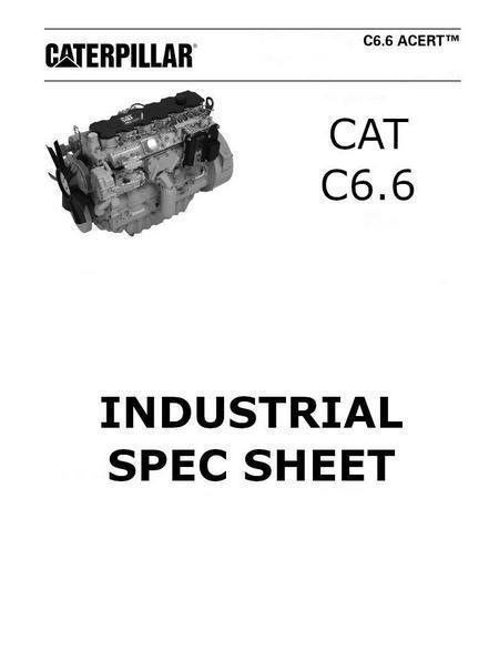 Caterpillar C6.6 engine spec sheet p1