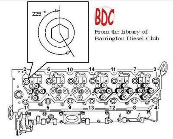 CAT C6.6 cylinder head bolt torque sequence