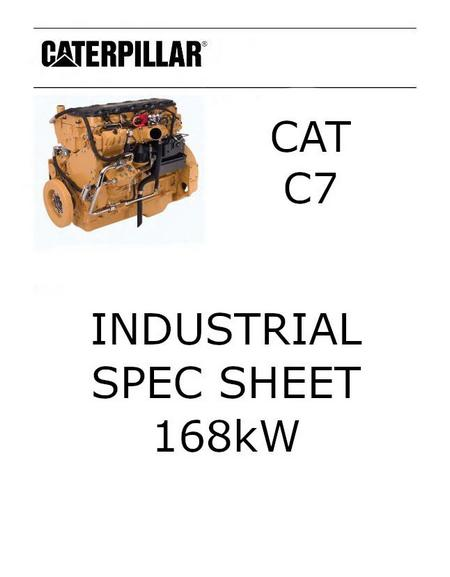 cat c7 168 kW spec sheet p1