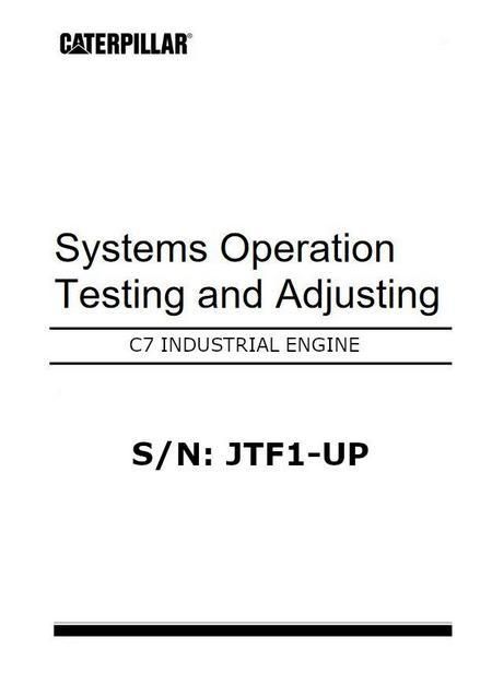 Caterpillar c7 systems operation, testing and adjusting, p1