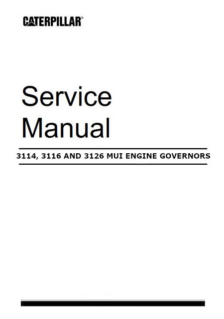3114 3116 3126 use of tools for mechanical injector setting manual