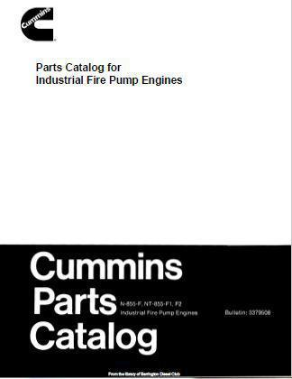 Cummins N855 BigCam parts book for fire pump engines p1
