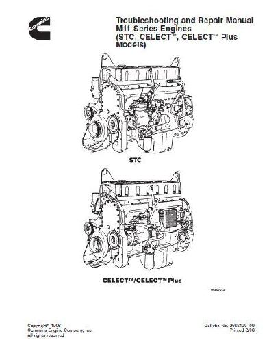 Cummins M11 Specs Manuals And Bolt Tightening Torques