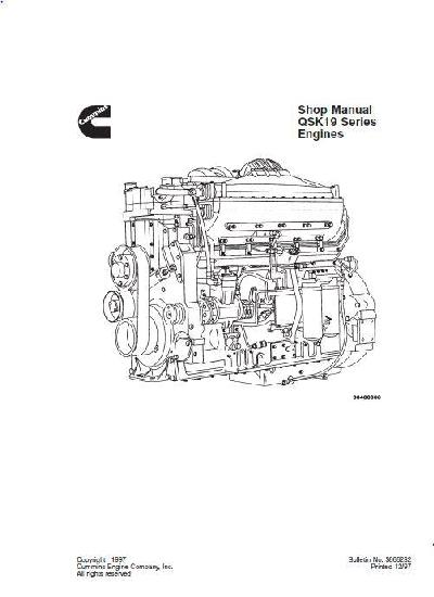 cummins qsk19 engine specs  bolt torques and manuals
