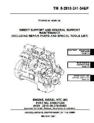 N855 Small Cam workshop manual and parts book