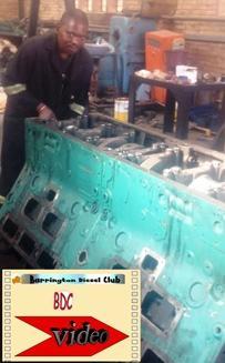 detroit diesel 12v 149 being built
