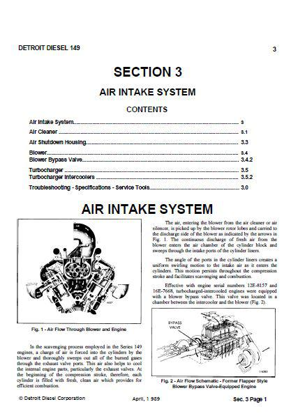detroit diesel 149 engine specs bolt torques and manuals detroit diesel 12v149 workshop manual sections 3 thru 12 p1