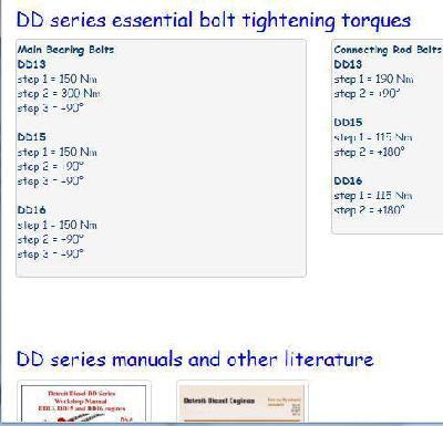Detroit Diesel DD Series engines essential specs snip