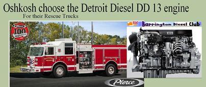 Oshkosh Detroit DD13 Collage