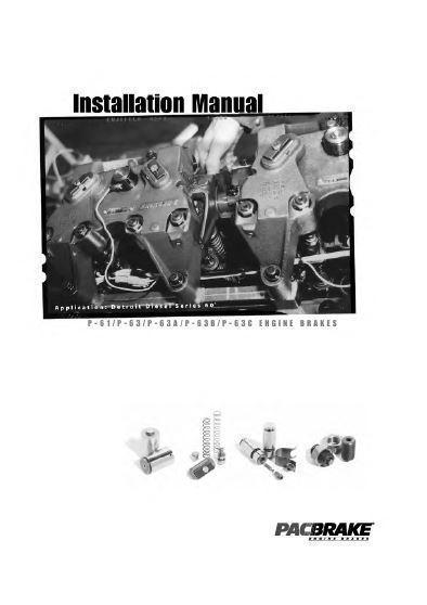 Detroit Diesel PAC brake installation manual P1