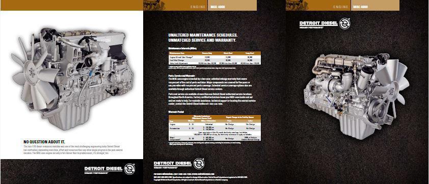Detroit Diesel MBE 4000 engine brochure p1