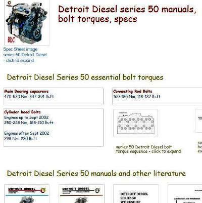 snip Detroit Diesel Series 50 essential specs